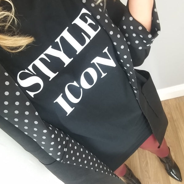 Black Style Icon T-Shirt