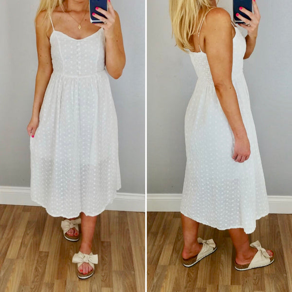 Broidery Anglais Sun Dress White