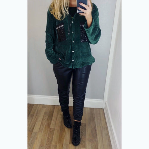 Soft Corduroy Shirt/Jacket Green