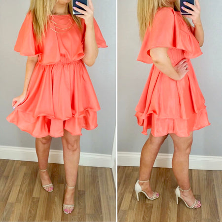 Strappy Side Split Dress