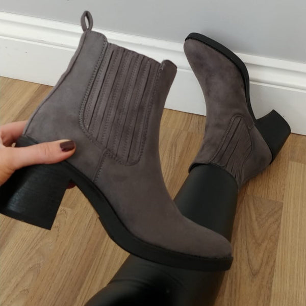 Grey Western Style Boot