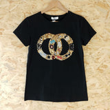CC Embellished T Black