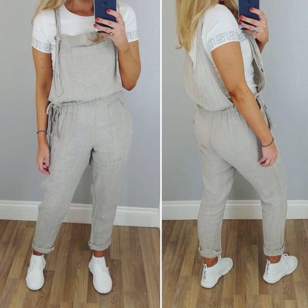 Sleeveless Boiler Suit