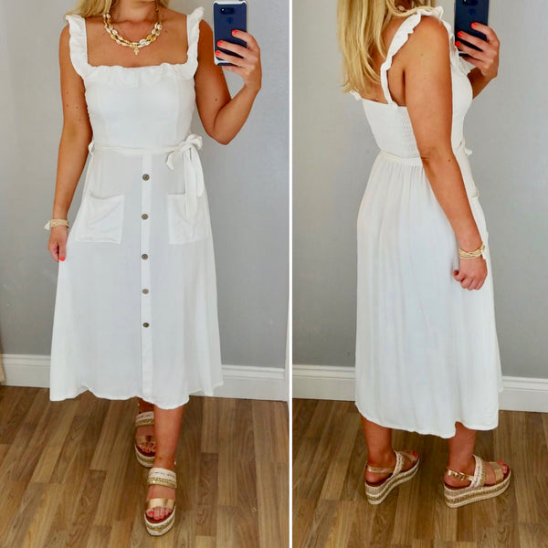 Button & Belt Sundress