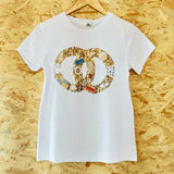 CC Embellished T White