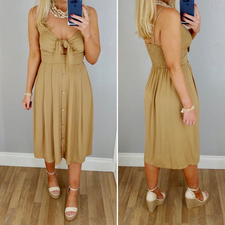 Pleat Top Maxi Dress Cream