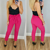 Fuchsia Paper Bag Trouser