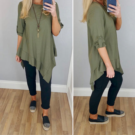 Puff Sleeve Crepe Top