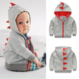 Dinosaur Hooded and zipped Sweater