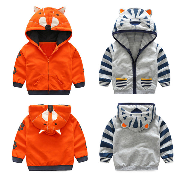 Cartoon Hooded and zipped Sweater