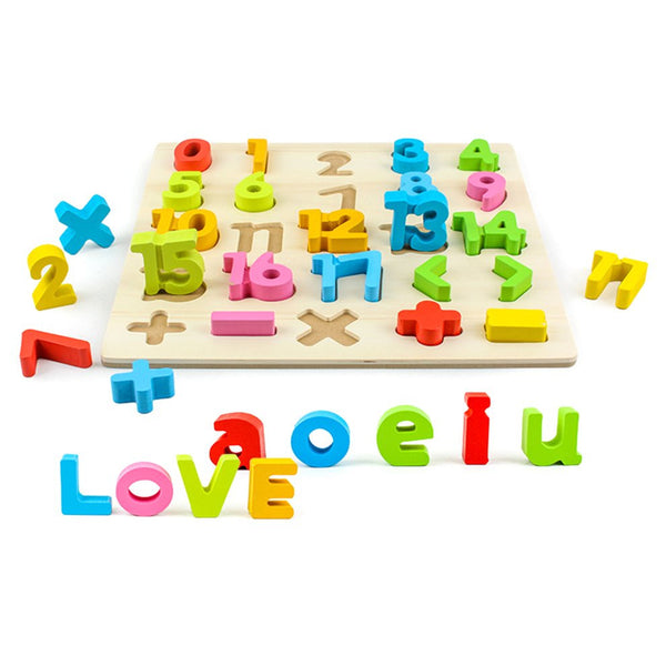 Wooden Baby Kids Learning Educational Toys Puzzle