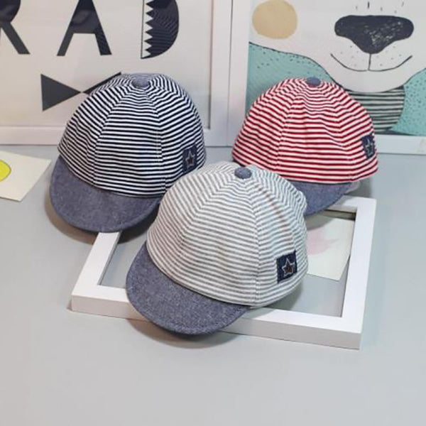 Baby striped cotton cap