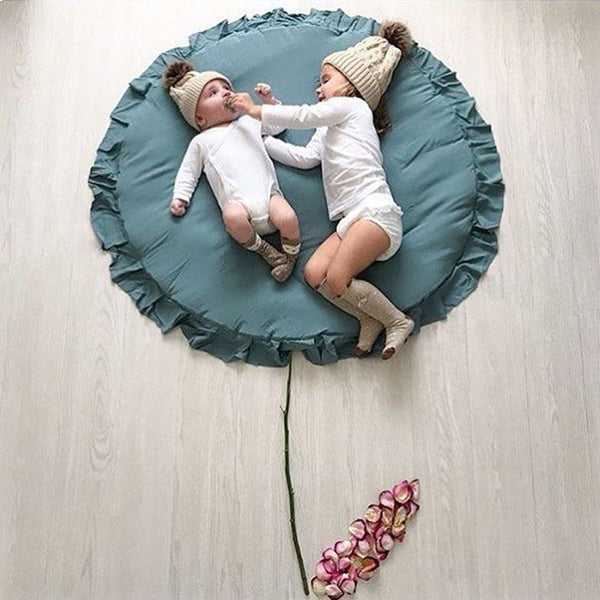Baby Round Lace Cotton Crawling Mat