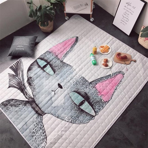 Cute Cartoon Play and Crawling Mats