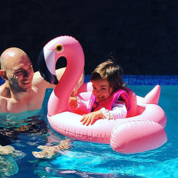 Inflatable pool float for baby - Flamingo Unicorn Swan