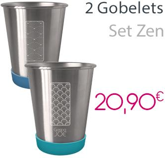 2 gobelets en inox - Party