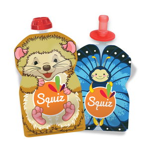 PACK 2 SQUIZ lavables + 1 SQUIZ TOP (embout bébé)