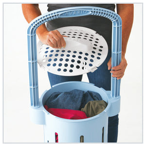 Place Clothes In Basket, Attach Lid