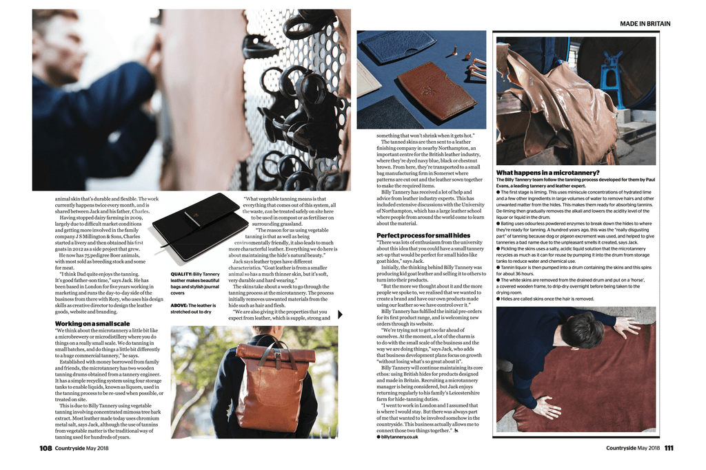 Billy Tannery Countryside Magazine