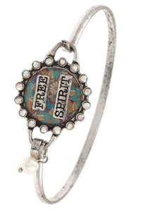 Ladies fashion free spirit bangle bracelet