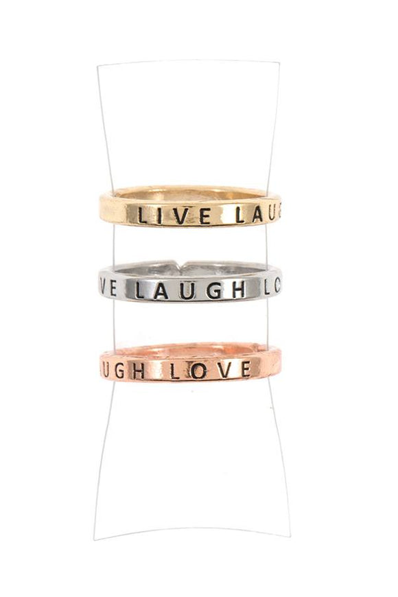 Live laugh love ring set