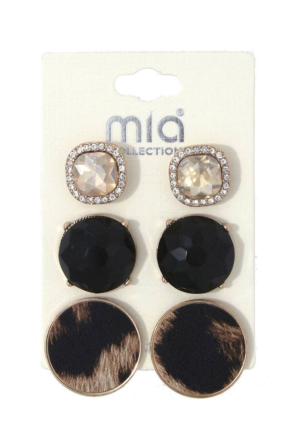 Rhinestone earring set