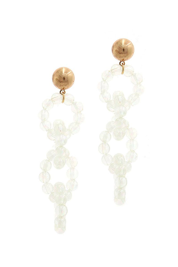 Lucite drop metal post earring
