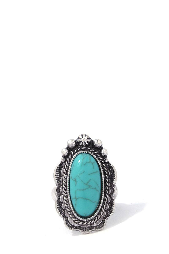 Filigree Turquoise Stretch Ring