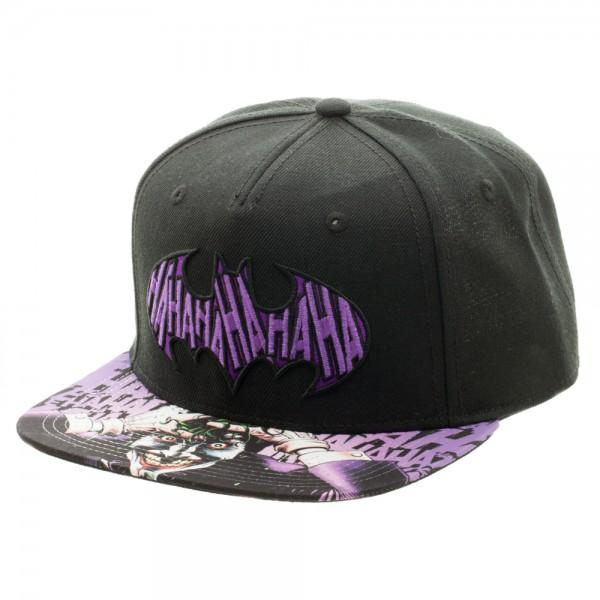 Batman Joker Sublimated Bill Snapback Hat