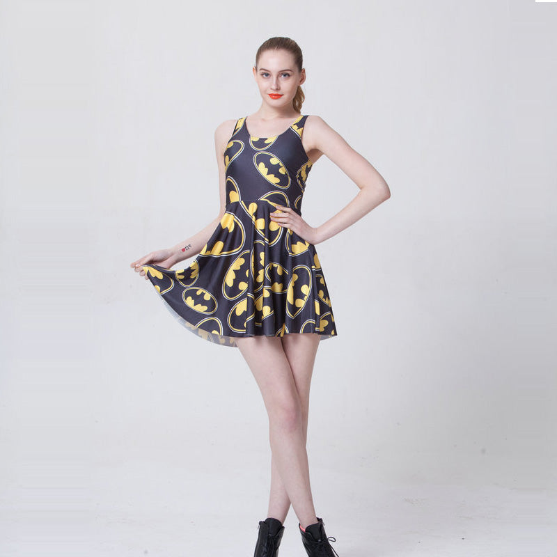 Women's Batman Summer Dress Logo