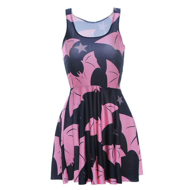 Women's Batman Summer Dress Pink & Black