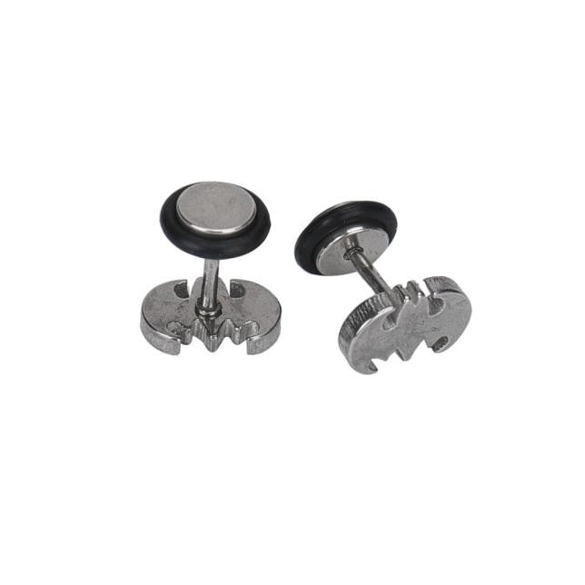 Stainless Steel Batman Earring Studs