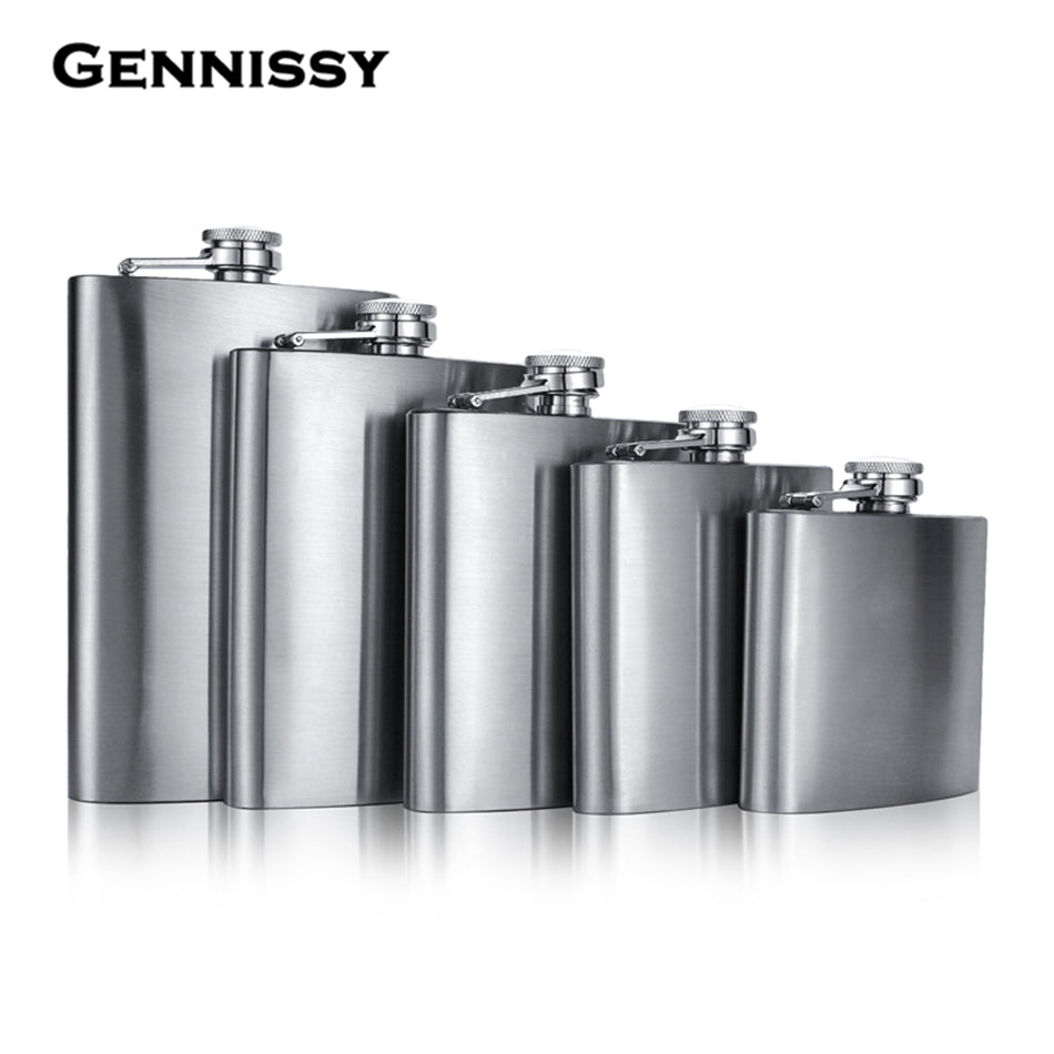 Stainless Steel Mini Hip Flask w/ Funnel