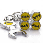 Batman Keychain Wrench w/ Tire Air Valve Caps