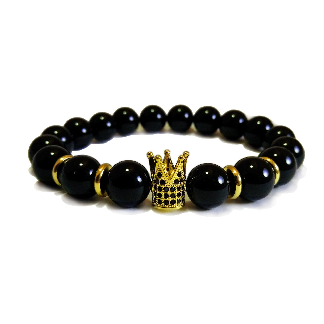 King crown Black Agate