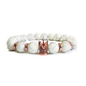King crown Howlite