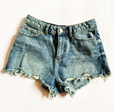 Denin short high waisted