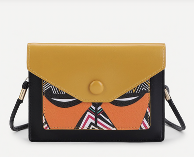 Crossbody mustard painted