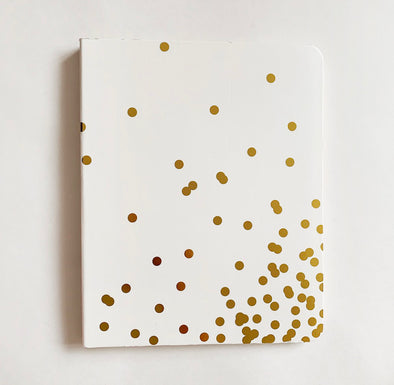 Notebook gold dots