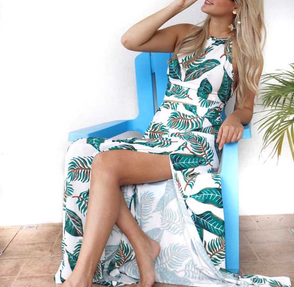 Palm leaf dress