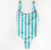 Swimsuit turquoise stripes