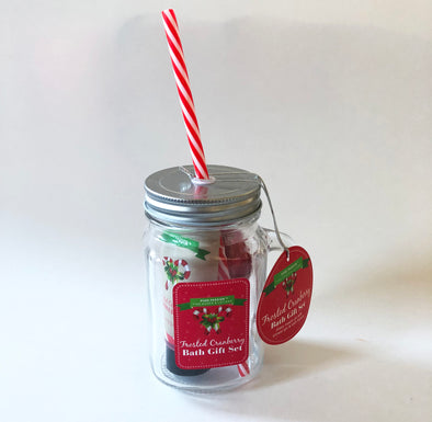 Christmas bath gift set jar