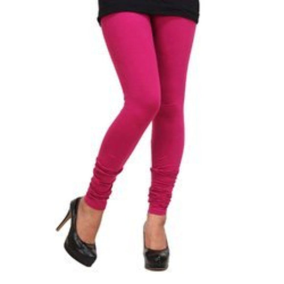 Women's Rich Cotton Legging - (Colour-Dark Magenta Pink)