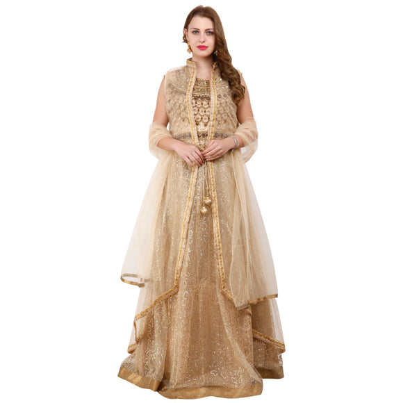 Azoobi wedding wear Dress with cape for Women
