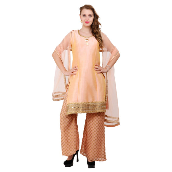 Azoobi Silk Stitched Party wear Sharara Suit Women's Clothing Designer Wear