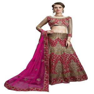 Azoobi Amazing Women's Embroidery, Stone Rai Dana Lehenga Choli With Un-Stitched Blouse