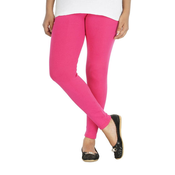 Women's Rich Cotton ankle Length Legging - (Colour-Magenta Pink)