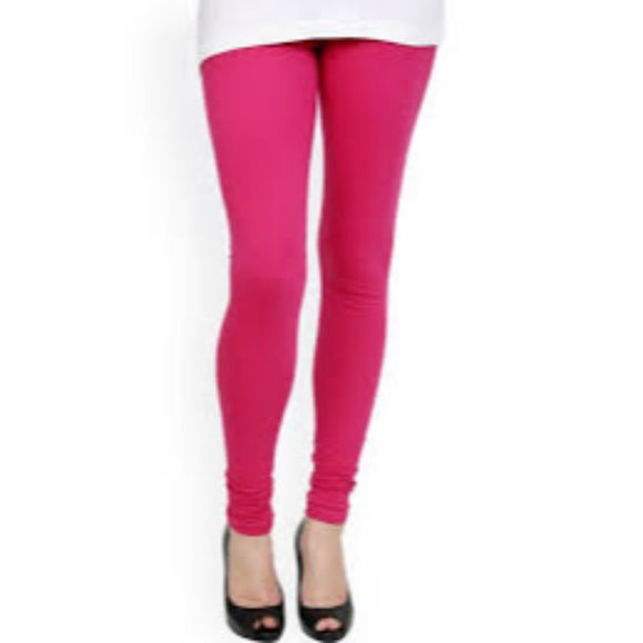 Women's Rich Cotton Legging - (Colour-Magenta Pink)