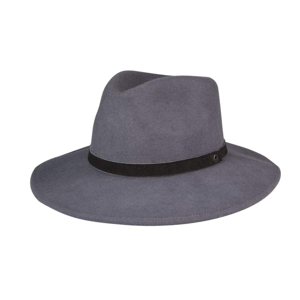 Felted Wool Fedora - Steel Gray
