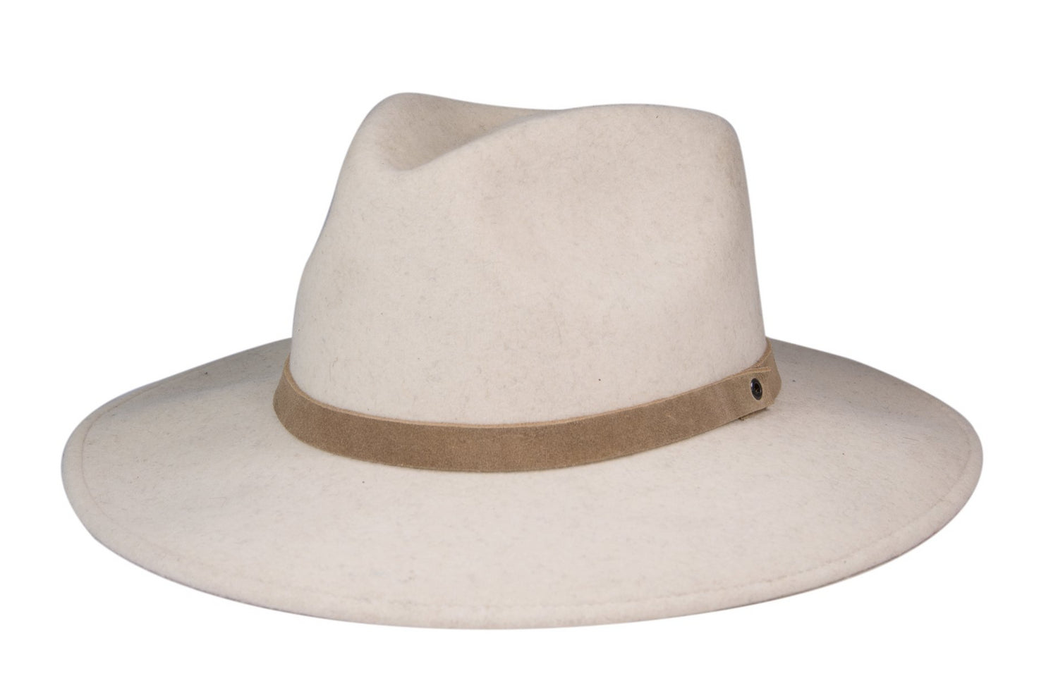 Wool Fedora - White Sand